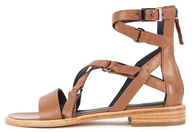 TIBI Adobe Brown Leather Imogen Sandals