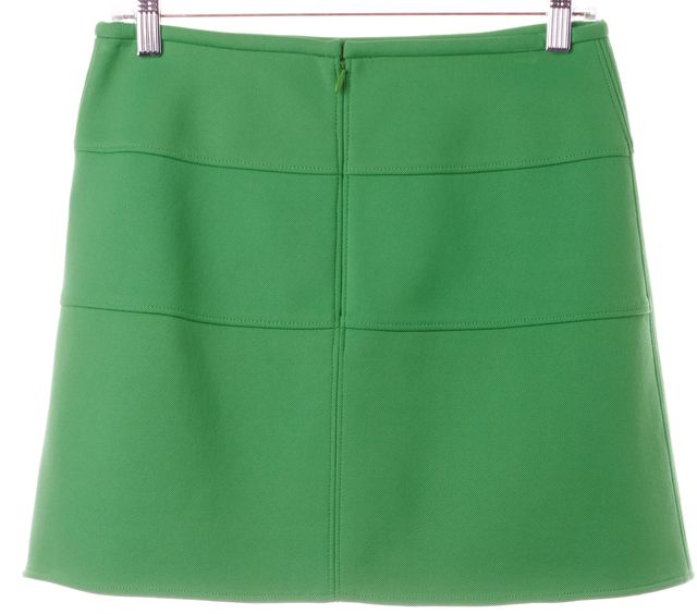 TIBI Lime Green Above Knee A-Line Skirt