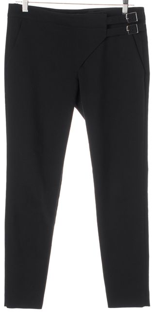 TIBI Black Stretch Cotton Skinny Trouser Dress Pants