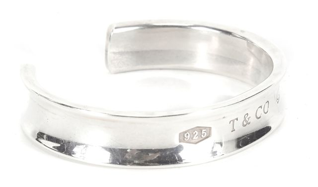 TIFFANY & CO. 925 Sterling Silver 1837 Small Cuff Bracelet