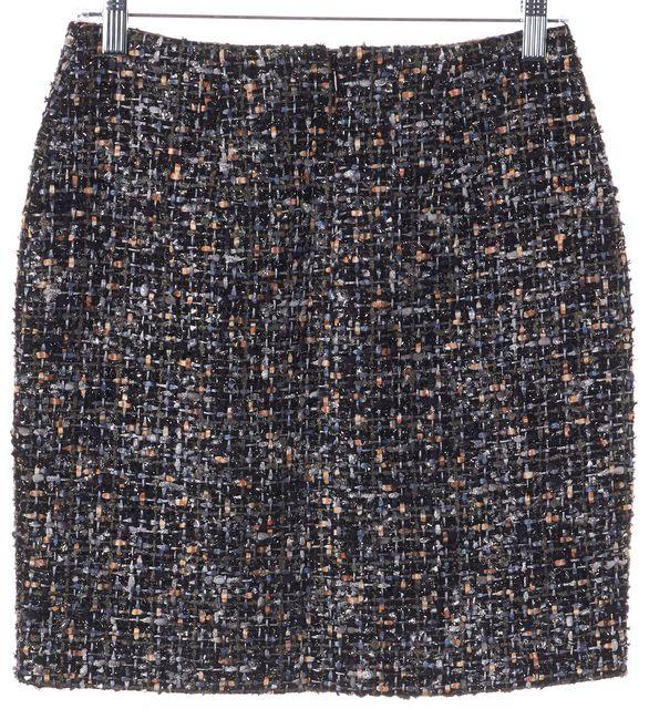 THE KOOPLES Black Tweed Mini Skirt US 4 FR 36