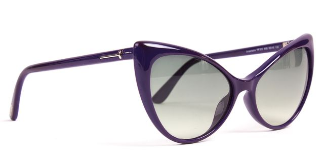 TOM FORD Purple Acetate Frame Gray Gradient Lens Anastasia Cat Eye Sunglasses