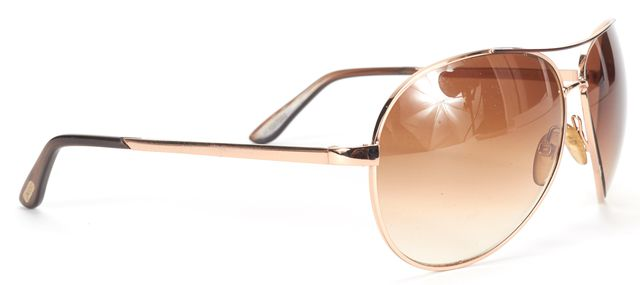 TOM FORD Gold Charles Aviator Sunglasses