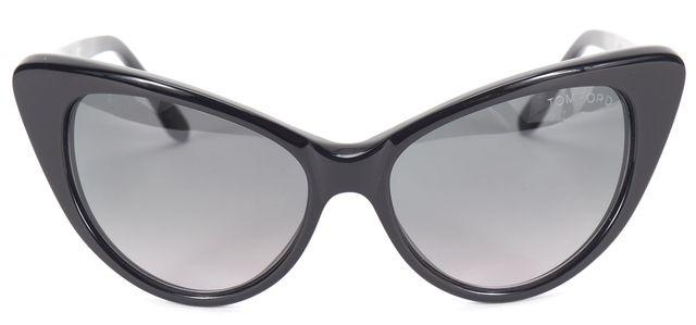 TOM FORD Black Gradient Lens Nikita Cat Eye Sunglasses