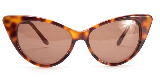 TOM FORD Brown Tortoise Shell Acetate Nikita Cat Eye Sunglasses