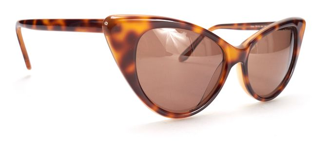 TOM FORD Brown Tortoise Shell Acetate Nikita Cat Eye Sunglasses