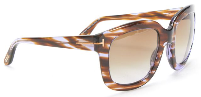 TOM FORD Brown Tortoise Shell Gradient Lens Christophe Square Sunglasses