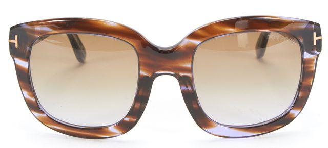 TOM FORD Brown Tortoise Shell Gradient Lens Christophe Square Sunglasses