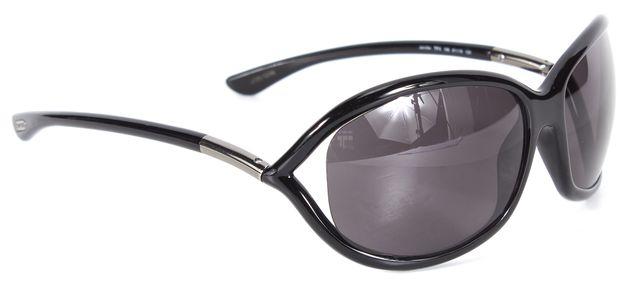 TOM FORD Black Oval Acetate Frame Polarized Lens Jennifer Sunglasses