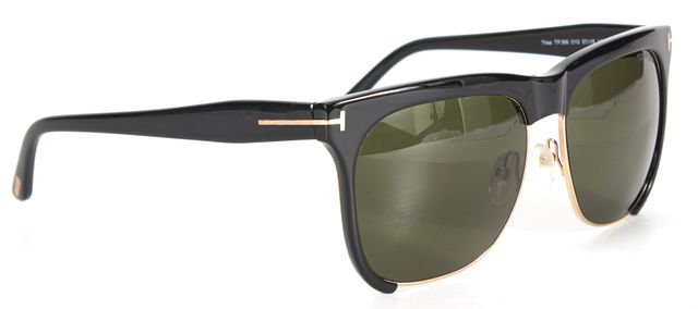 TOM FORD Shiny Black Acetate Thea Square Sunglasses