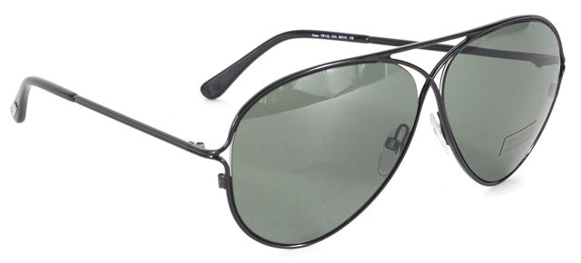 TOM FORD Black Wire Frame Peter Aviator Sunglasses w/ Case