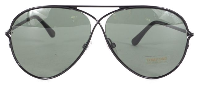 TOM FORD Black Wire Frame Peter Aviator Sunglasses w/ Case
