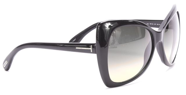 TOM FORD Black Nico Gradient Butterfly Sunglasses