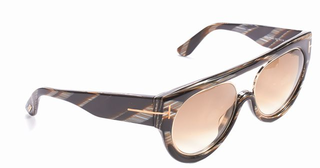 TOM FORD Brown Multi-Colored Alana Aviator Sunglasses