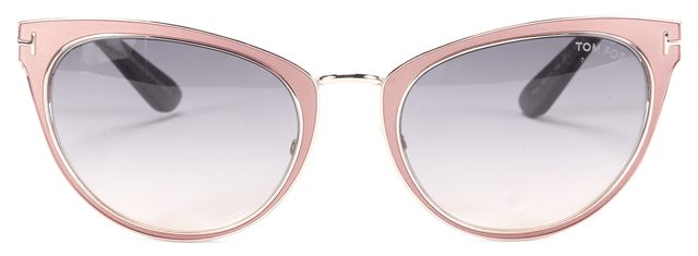 TOM FORD Rose-Goldtone Metal and Pink Epoxy Nina Cat-Eye Sunglasses