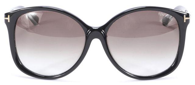 TOM FORD Black Alicia Oversized Gradient Sunglasses