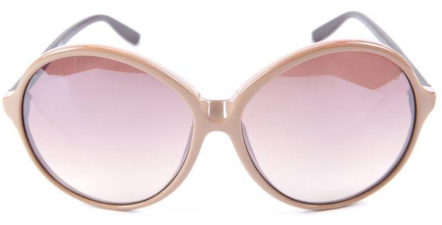 TOM FORD Beige and Brown Rhonda Circular Sunglasses