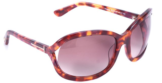 TOM FORD Tortoise Vivienne Square Sunglasses