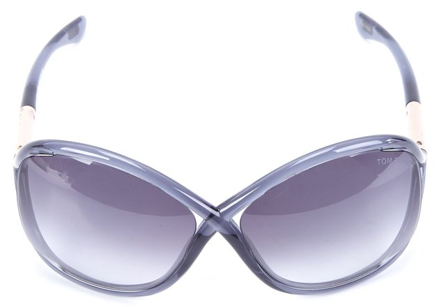 TOM FORD Blue Transparent Acetate Gradient Lens Whitney Butterfly Sunglasses