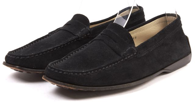 TOD'S Black Suede Driving Moccasins