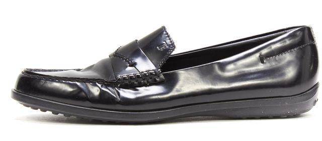 TOD'S Black Leather Loafer