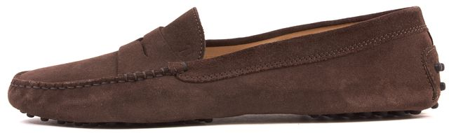 TOD'S Brown Suede Driving Loafers