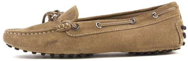 TOD'S Light Brown Suede Driving Flats