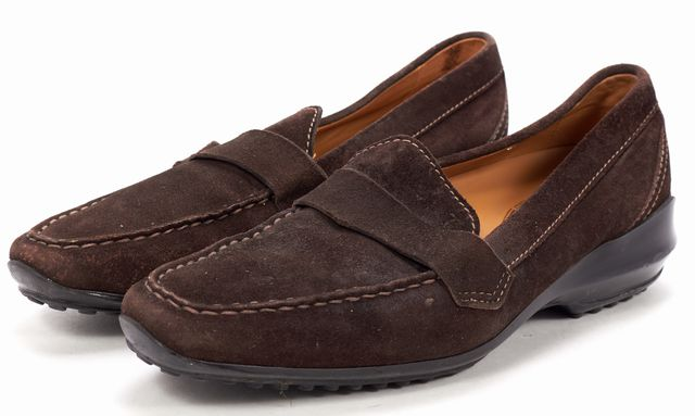 TOD'S Brown Suede Loafers