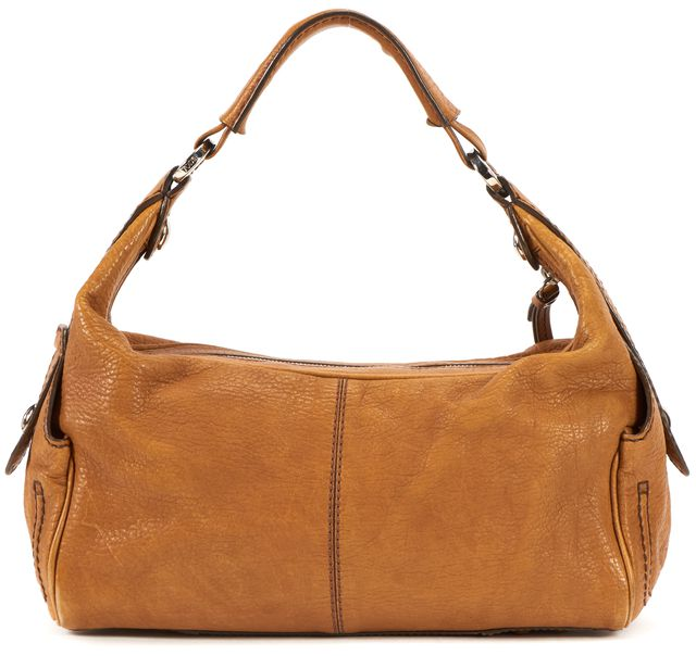 TOD'S Topaz Pebbled Leather Hobo Shoulder Bag