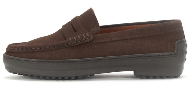 TOD'S Brown Suede Winter City Gommino Penny Loafer
