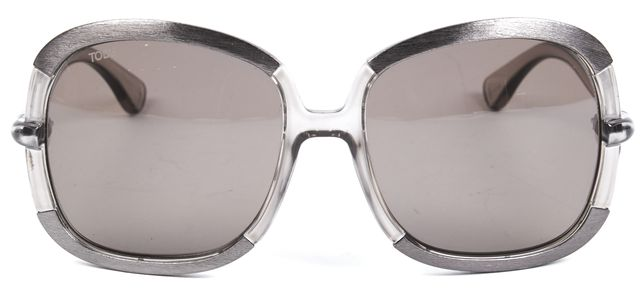 TOD'S Gray Acetate Frame Oversize Gradient Lens Square Sunglasses