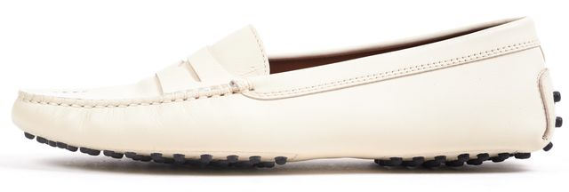 TOD'S Ivory Leather Loafers