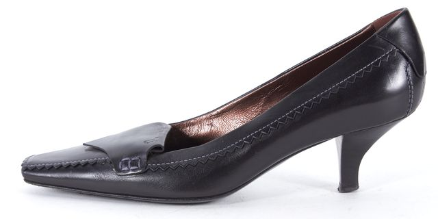 TOD'S Black Leather Loafers Pumps Heels