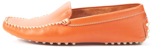 TOD'S Orange Leather Loafers