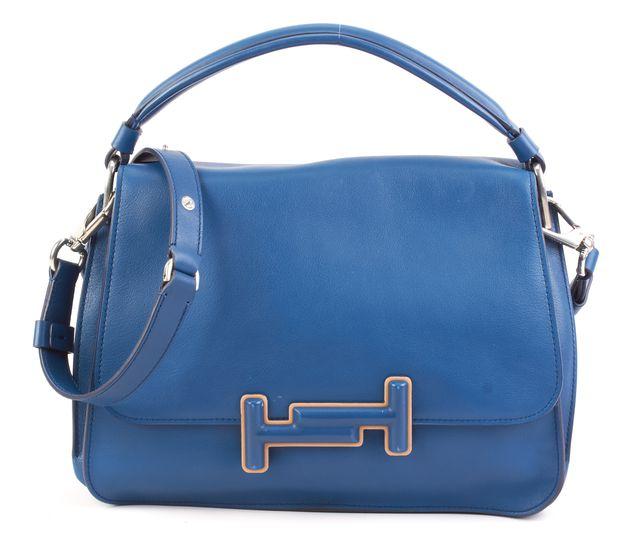 TOD'S Blue Leather Double T Satchel Bag