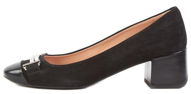 TOD'S Black Double T Suede Pump Shoes