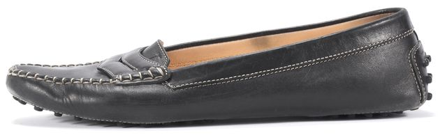 TOD'S Black Almond Toe Loafers