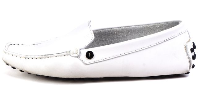 TOD'S White Leather Loafers