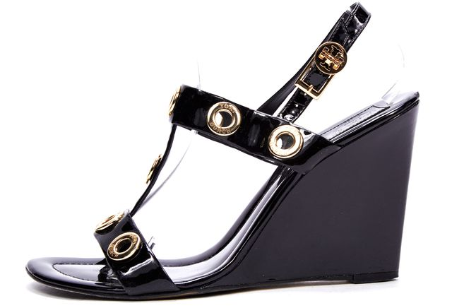 buy cheap purchase clearance fashion Style Tory Burch Grommet Wedge Sandals cheap sale Inexpensive factory outlet cheap online VUm1ISFEha