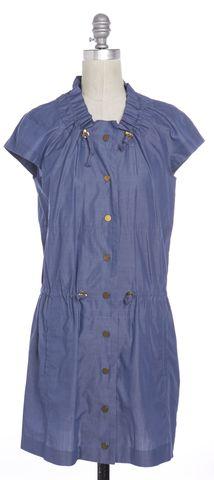 TORY BURCH Blue Chambray Short Sleeve Blouson Dress