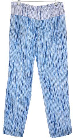 TORY BURCH #12151279 Blue White Geometric Casual Pants