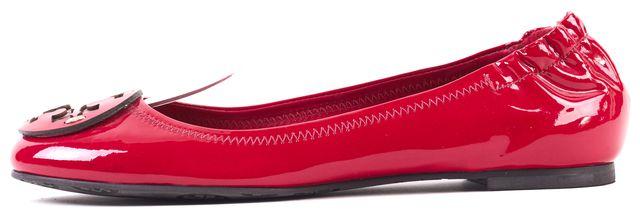 TORY BURCH Raspberry Red Patent Leather Reva Ballet Flats