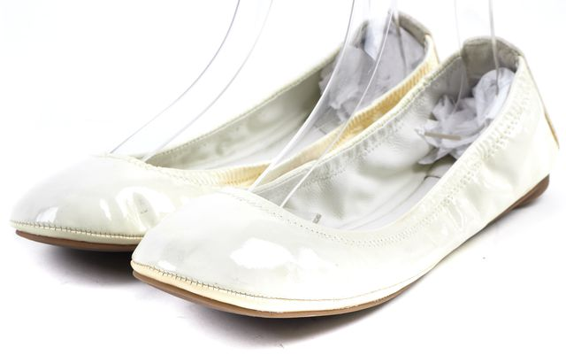 TORY BURCH White Patent Leather Ballet Flats