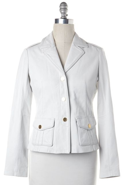 TORY BURCH White Leather Blazer