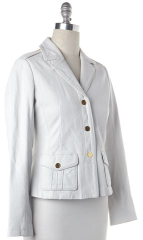 TORY BURCH White Leather Blazer