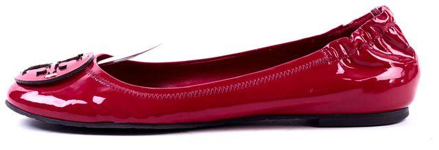 TORY BURCH Dark Pink Patent Leather Reva Ballet Flat