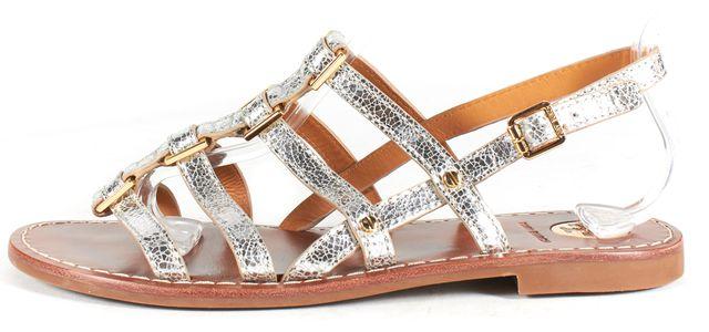 TORY BURCH Silver Gladiator Sandal