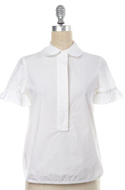 TORY BURCH White Cotton Button Down Shirt