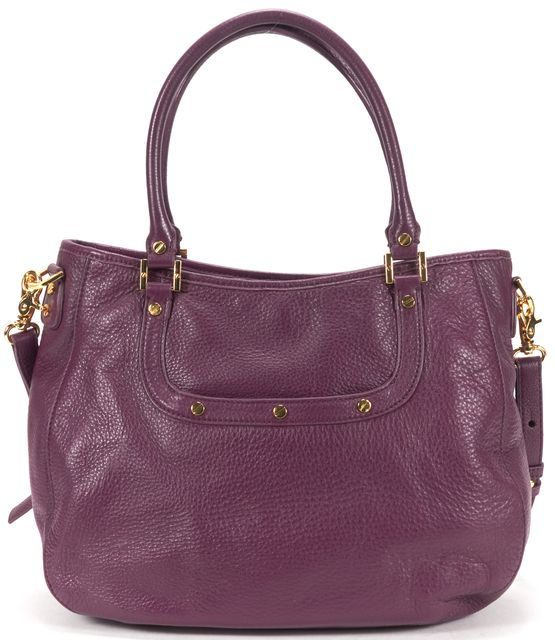 TORY BURCH Dark Violet Pebbled Leather Crossbody Shoulder Bag