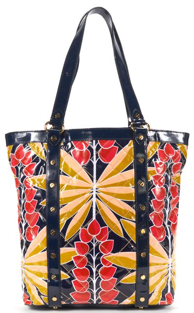 TORY BURCH Multicolor Floral Print Coated Canvas Tote Bag